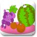 填色-西瓜,橘子,葡萄