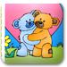小熊情侣填颜色