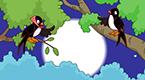 两只燕子在吵架