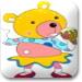 小熊吃冰激凌