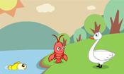 天鹅、虾和梭子鱼