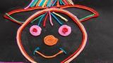 稻草人儿童画-开心的稻草人