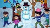 一起打雪仗