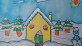 雪中的房子