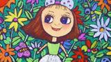 花丛中的小女孩
