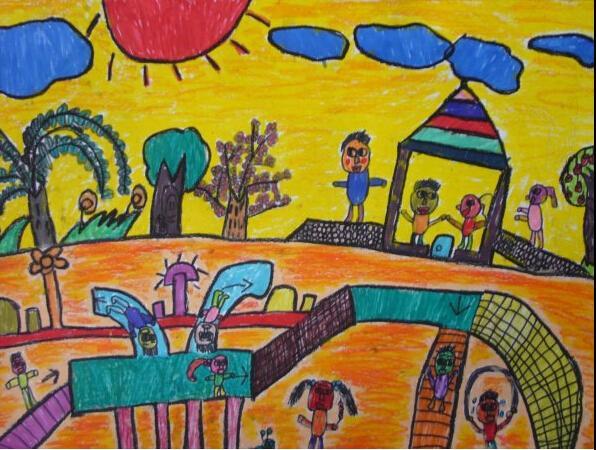 和谐幸福儿童画