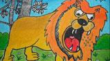 暮色时分的雄狮