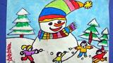 一个大大的雪人