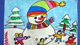 儿童画堆雪人-我们一起堆雪人