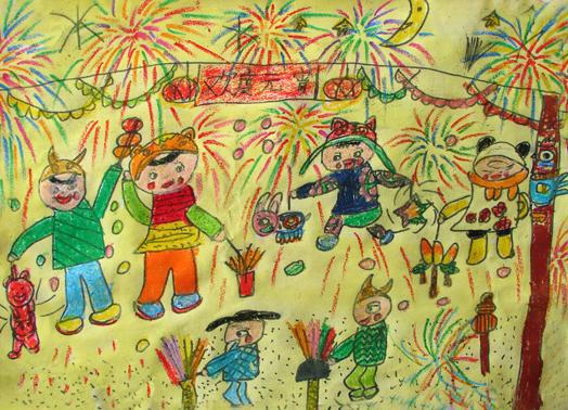 看看我们的这幅儿童画是不是很精彩啊,现在我们就一起来欣赏一下吧.