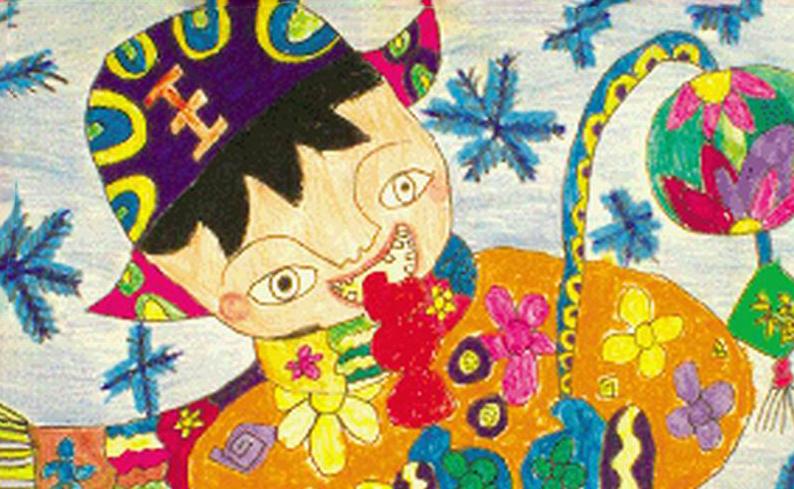 我们的节日_起跑线儿童画