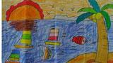 大海里的帆船