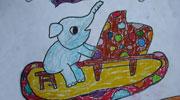 弹钢琴的大象