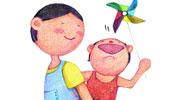 大风车儿童画-我们一起玩风车