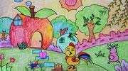 大公鸡的苹果屋