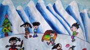 小伙伴一起滑雪