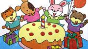 大蛋糕儿童画-蛋糕