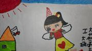 美丽的天使儿童画-我变成天使飞回家