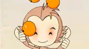 小猴子摘桃