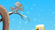 不怕冷的小鸟