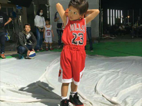 田亮儿子打篮球帅气拉风