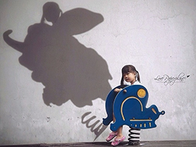 女儿的影子和天马行空