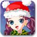 美丽圣诞女孩