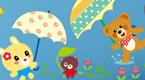 彩色雨伞花