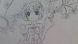 樱花树下的女孩