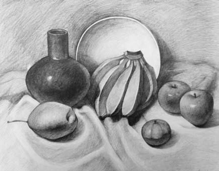 水果素描步骤详解