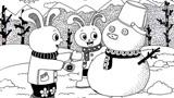 小兔子和小雪人