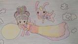 儿童画嫦娥-嫦娥玉兔奔月