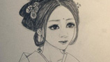 最美的人儿童画-古代美女