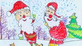 两个圣诞老人