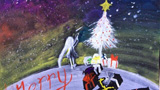 圣诞节的星空