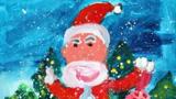 拿礼物的圣诞老人