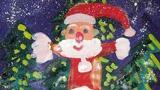玩雪的圣诞老人