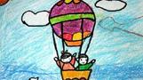 天空中的热气球