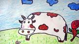 山坡上的奶牛