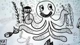 吃棒棒糖的章鱼