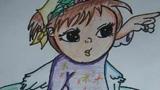 美丽的天使儿童画-善良的天使