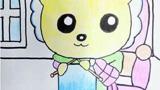 织毛衣的小猫