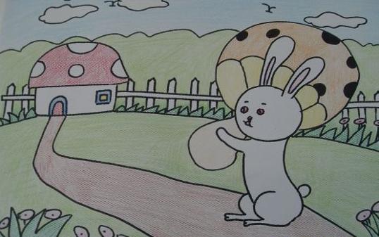 小兔子搬蘑菇