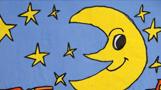 月亮儿童画-眨眼睛的月亮