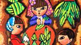 吃粽子儿童画―我和妈妈包粽子