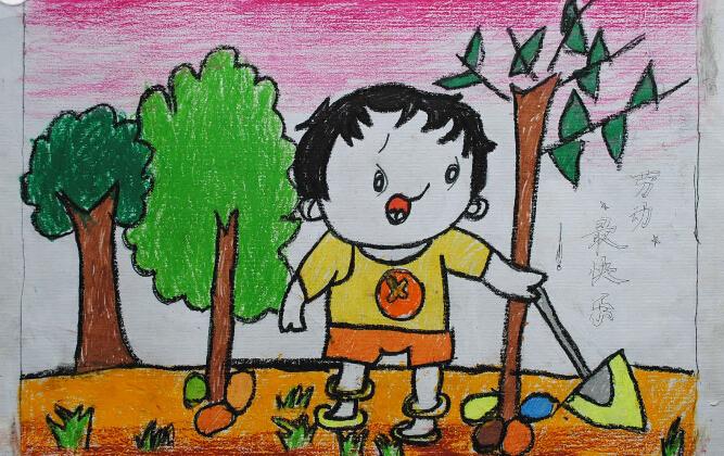 炎热的夏天_起跑线儿童画