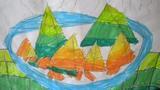 吃粽子儿童画-调皮的粽子