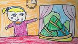 吃粽子儿童画-我包的粽子