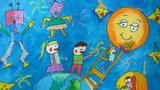 吃粽子儿童画-端午粽子情