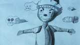 稻草人儿童画-稻草人